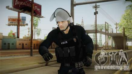 Turkish Riot Police with Gear для GTA San Andreas