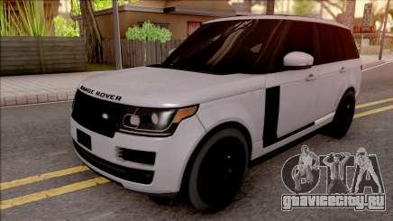 Range Rover Vogue Sport 2017 для GTA San Andreas