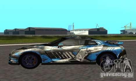 Nissan GTR 2015 Bulkin Edition 1.1 для GTA San Andreas вид слева