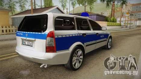 Opel Astra G Politia Romana для GTA San Andreas вид справа