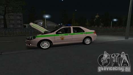 Fiat Albea ФСИН для GTA San Andreas вид сзади слева