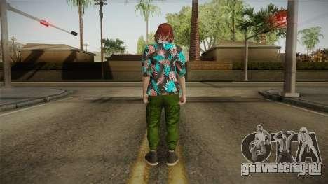 DLC Smuggler Female Skin для GTA San Andreas третий скриншот