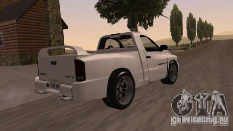 Dodge RAM SRT-10 для GTA San Andreas вид справа