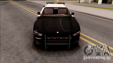 Dodge Charger Police Cruiser Lowest Poly для GTA San Andreas вид изнутри