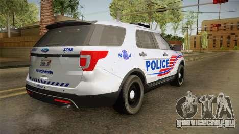 Ford Explorer 2016 Police для GTA San Andreas вид слева