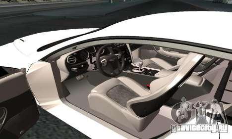 Bentley Continental GT Armenian для GTA San Andreas вид изнутри