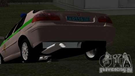 Fiat Albea ФСИН для GTA San Andreas вид сзади