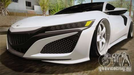 Acura NSX Stance 2017 для GTA San Andreas вид сверху