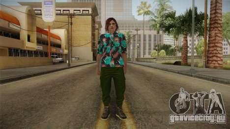DLC Smuggler Female Skin для GTA San Andreas второй скриншот