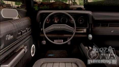 Ford Gran Torino Police LVPD 1975 v3 для GTA San Andreas вид изнутри