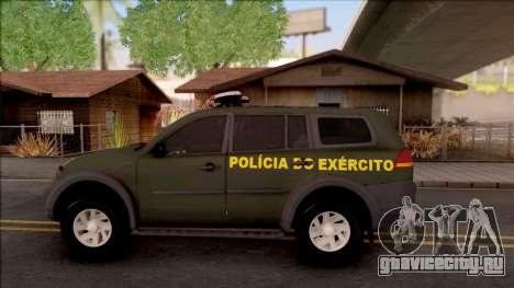 Mitsubishi Pajero Army Police of Brazil для GTA San Andreas вид слева
