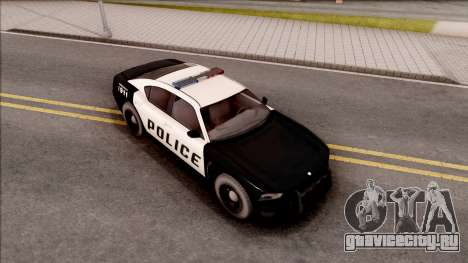 Dodge Charger Police Cruiser Lowest Poly для GTA San Andreas вид справа