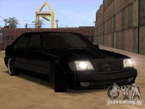 Mercedes-Benz S63 Brabus для GTA San Andreas вид снизу