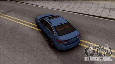 Hyundai Sonata 2018 для GTA San Andreas вид сзади