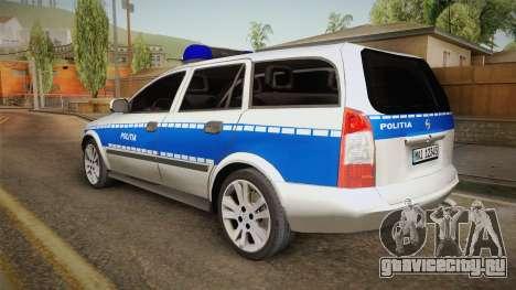 Opel Astra G Politia Romana для GTA San Andreas вид слева
