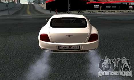 Bentley Continental GT Armenian для GTA San Andreas вид сзади