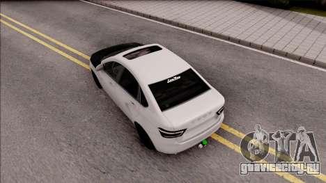 Lada Vesta для GTA San Andreas вид сзади