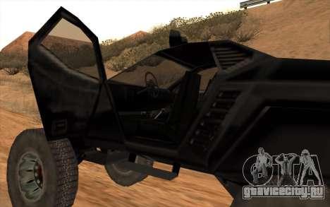 Кайман для GTA San Andreas вид сзади