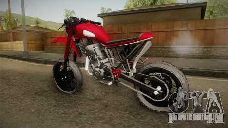 Yamaha XT660 Scrambler для GTA San Andreas вид справа