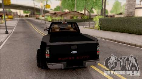 Ford F-350 Super Duty Low Style для GTA San Andreas вид сзади слева