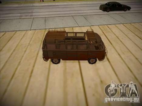 Volkswagen Samba BUS 1959 для GTA San Andreas вид изнутри