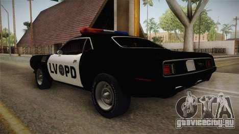 Plymouth Hemi Cuda 426 Police LVPD 1971 для GTA San Andreas вид справа