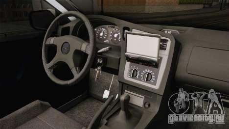 Opel Astra G Politia Romana для GTA San Andreas вид изнутри