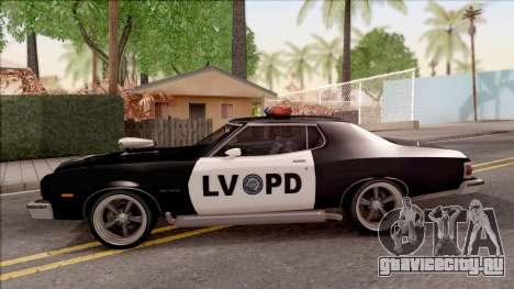 Ford Gran Torino Police LVPD 1975 v3 для GTA San Andreas вид слева