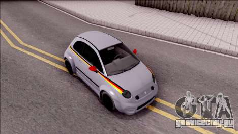Fiat 500 Abarth для GTA San Andreas вид справа