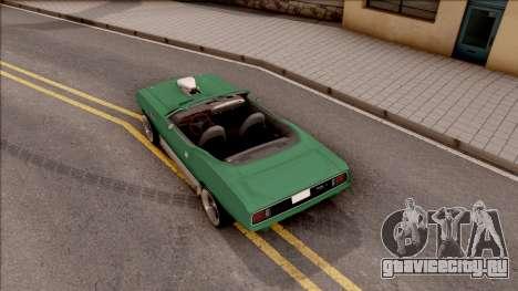 Plymouth Hemi Cuda 426 Cabrio 1971 для GTA San Andreas вид сзади