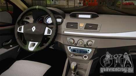 Renault Fluence Touch для GTA San Andreas вид изнутри