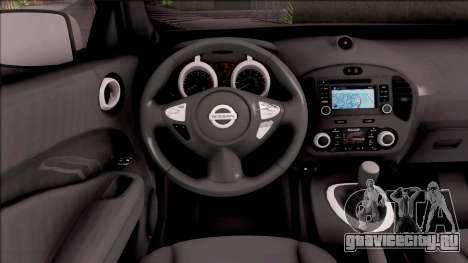 Nissan Juke для GTA San Andreas вид изнутри