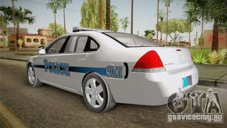 Chevrolet Impala 2011 Police для GTA San Andreas вид справа