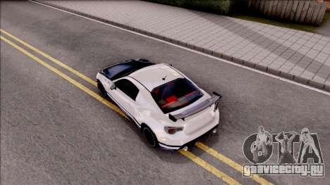 Toyota GT86 Tofu Shop для GTA San Andreas вид сзади