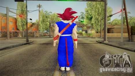 Goku Original DB Gi Blue v2 для GTA San Andreas третий скриншот