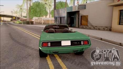 Plymouth Hemi Cuda 426 Cabrio 1971 для GTA San Andreas вид сзади слева