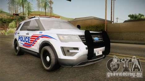 Ford Explorer 2016 Police для GTA San Andreas вид сзади слева