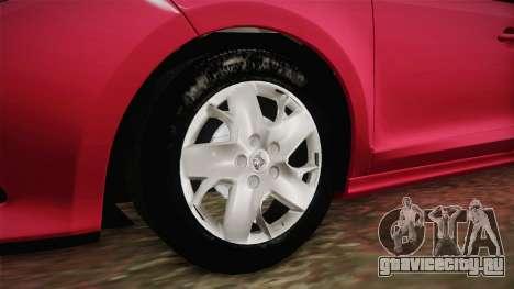 Renault Fluence Touch для GTA San Andreas вид сзади