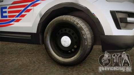 Ford Explorer 2016 Police для GTA San Andreas вид сзади