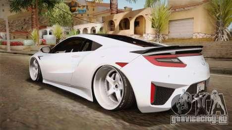 Acura NSX Stance 2017 для GTA San Andreas вид слева