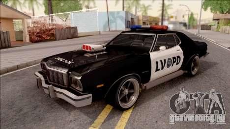 Ford Gran Torino Police LVPD 1975 v3 для GTA San Andreas