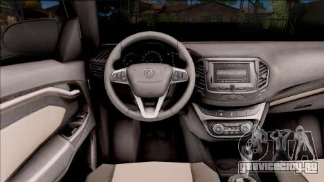Lada Vesta для GTA San Andreas вид изнутри