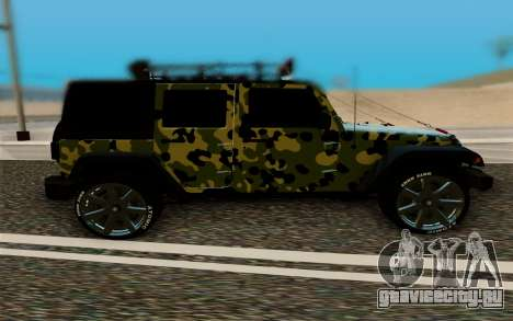 Jeep Wrangler для GTA San Andreas вид слева