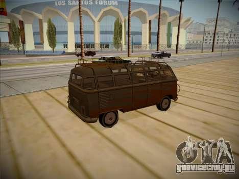 Volkswagen Samba BUS 1959 для GTA San Andreas вид сзади слева