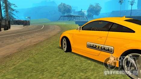 Audi TT RS Afonya TV для GTA San Andreas вид справа