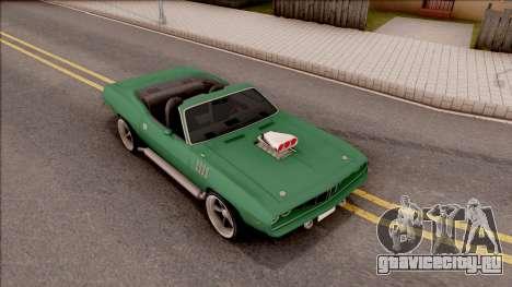 Plymouth Hemi Cuda 426 Cabrio 1971 для GTA San Andreas вид справа