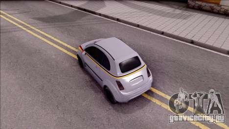 Fiat 500 Abarth для GTA San Andreas вид сзади