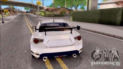 Toyota GT86 Tofu Shop для GTA San Andreas вид сзади слева