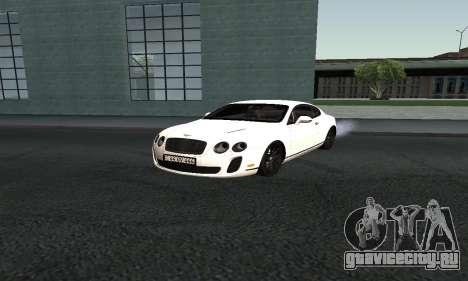 Bentley Continental GT Armenian для GTA San Andreas вид сзади слева