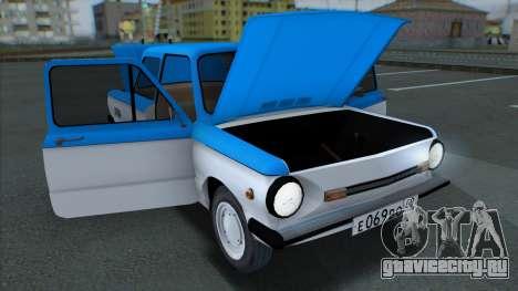 ZAZ 968M GVR SAMP для GTA San Andreas вид сзади